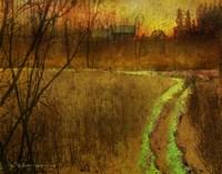 Woodblock Stream II Fine Art Print