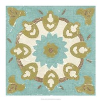 "Rustic Tiles III by Chariklia Zarris - 18"" x 18"""