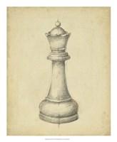 Antique Chess III Fine Art Print