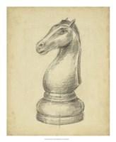 Antique Chess IV Fine Art Print