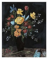 "Noir Floral I by Megan Meagher - 26"" x 32"""