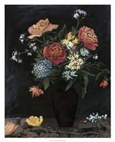 "Noir Floral II by Megan Meagher - 26"" x 32"""