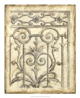 """Decorative Iron Sketch II by Megan Meagher - 18"""" x 22"""""""
