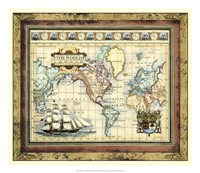 """Map of the World by Vision Studio - 21"""" x 18"""""""
