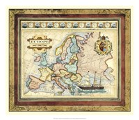 """Map of Europe by Vision Studio - 21"""" x 18"""""""