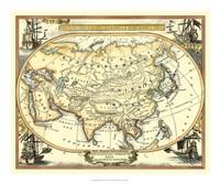 Nautical Map of Asia Fine Art Print