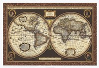 Decorative World Map Framed Print
