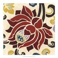 "Persian Garden IV by June Erica Vess - 18"" x 18"""