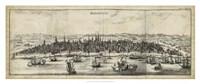 """View of Bordeaux - 38"""" x 16"""""""