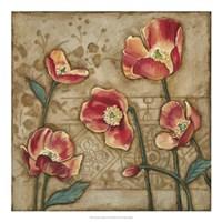 "Travertine Garden II by Megan Meagher - 20"" x 20"""