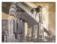 "Metropolitan Collage I by Ethan Harper - 34"" x 26"""