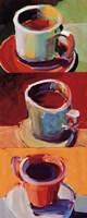 "Three Cups o' Joe II by Robert Burridge - 8"" x 20"" - $11.49"