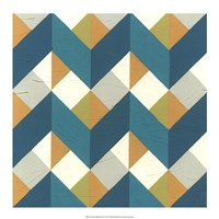 Chevron Illusion III Framed Print
