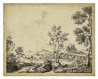 "Classical Landscape II by Bartolomeo Pinelli - 32"" x 26"""