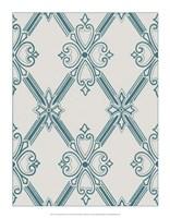 """Ornamental Pattern in Teal II by Vision Studio - 14"""" x 18"""""""