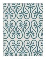 "Ornamental Pattern in Teal IX by Vision Studio - 14"" x 18"""