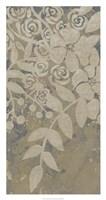 Linen Chintz II Framed Print