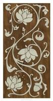 """Faux Bois Floral I by June Erica Vess - 18"""" x 34"""""""