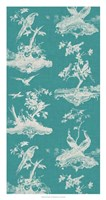 """Toile in Turquoise by Vision Studio - 17"""" x 32"""""""