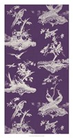 """Toile in Plum by Vision Studio - 17"""" x 32"""""""
