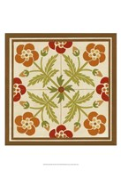 "Floral Folk Tile III by June Erica Vess - 13"" x 19"""