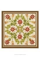 """Floral Folk Tile IV by June Erica Vess - 13"""" x 19"""""""