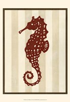 "Sea Life Silhouette I by June Erica Vess - 13"" x 19"""