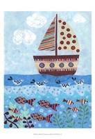 Sunny Sailing Framed Print