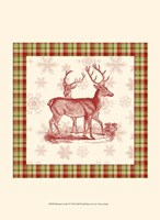 "Reindeer Toile I by Vision Studio - 10"" x 13"""