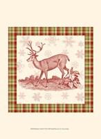 Reindeer Toile II Fine Art Print