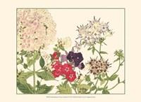 Small Japanese Flower Garden II Fine Art Print