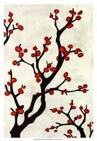 Red Berry Branch I Fine Art Print