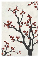 Red Berry Branch II Fine Art Print