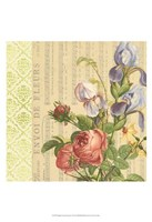 English Garden Bouquet I Fine Art Print