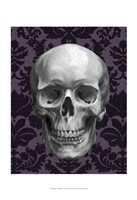 Skull on Damask Fine Art Print