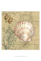Coastal Map Collage I Fine Art Print