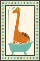 Rub-A-Dub Dino I by June Erica Vess - various sizes, FulcrumGallery.com brand