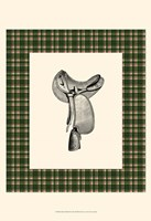 Saddle and Plaid I Fine Art Print