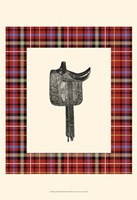 Saddle and Plaid III Fine Art Print