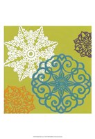 """Vibrant Winter Lace I by June Erica Vess - 13"""" x 19"""""""