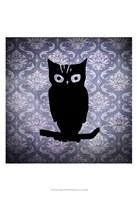 "Owl & Damask by Vision Studio - 13"" x 19"", FulcrumGallery.com brand"
