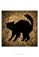 "Cat & Damask by Vision Studio - 13"" x 19"""