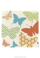 Butterfly Patterns I Framed Print