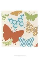 """Butterfly Patterns II by June Erica Vess - 13"""" x 19"""""""