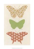 """Butterfly Patterns III by June Erica Vess - 13"""" x 19"""""""