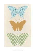 "Butterfly Patterns IV by June Erica Vess - 13"" x 19"""