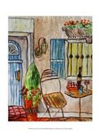 Greek Cafe II Fine Art Print