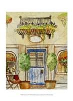 Greek Cafe IV Fine Art Print