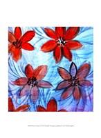 "Flower Strokes I by Danielle Harrington - 10"" x 13"""