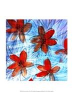"""Flower Strokes II by Danielle Harrington - 10"""" x 13"""""""